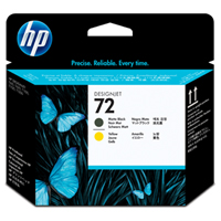 HP No. 72 Matt black a Yellow Printhead pro DJ T610, T620, T770, T790, T1100, T1200, T1300, T2300