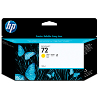 HP No. 72 Yellow Ink Cartridge pro DJ T610, T620, T770, T790, T1100, T1200, T1300, T2300 (130ml)
