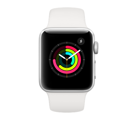 Apple Watch Series 3, stříbrné