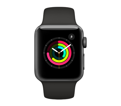 Apple Watch Series 3, vesmírně šedé