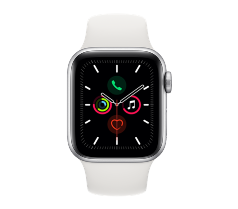Apple Watch Series 5, stříbrné