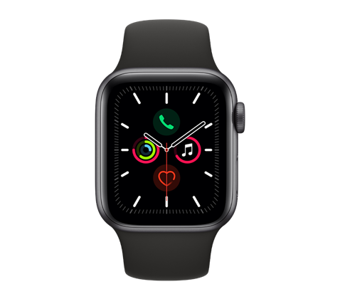 Apple Watch Series 5, vesmírně šedé