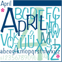 April URW Normal OpenType Mac/Win CE
