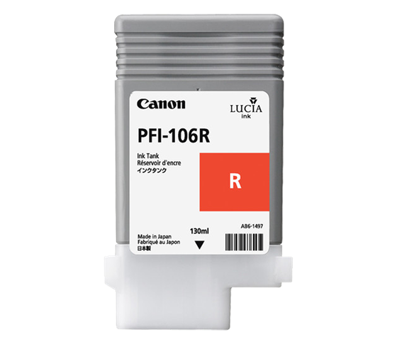 Canon Pigment Ink Tank PFI-106 Red (R) 130 ml