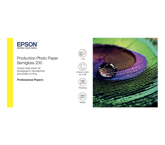 Epson Production Photo Paper Semigloss 200g