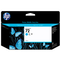 HP No. 72 Cyan Ink Cartridge pro DJ T610, T620, T770, T790, T1100, T1200, T1300, T2300 (130ml)