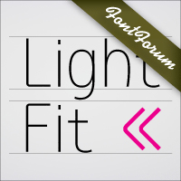 Light Fit OpenType Mac/Win CE
