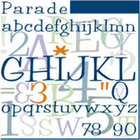 Parade URW Normal OpenType Mac/Win CE