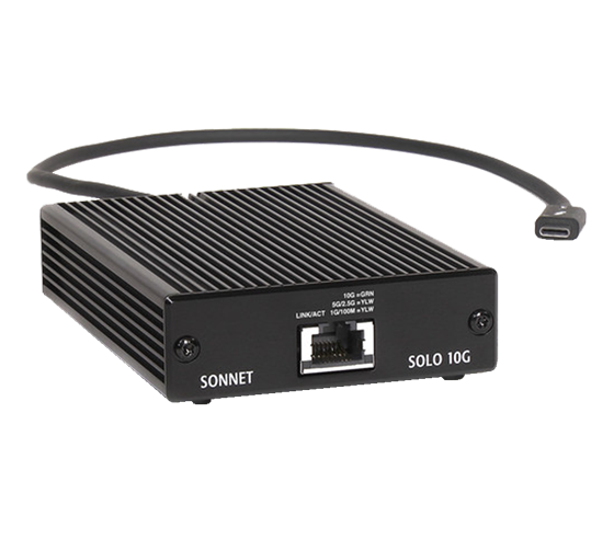 Sonnet Solo Thunderbolt 3 na 10Gb Ethernet Adapter