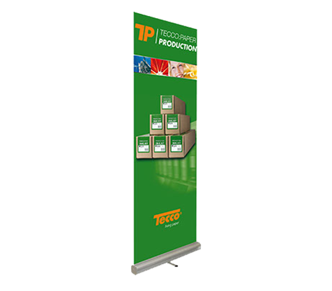 Tecco Production Roll-Up Display + 1 role 85,0 cm x 5 m