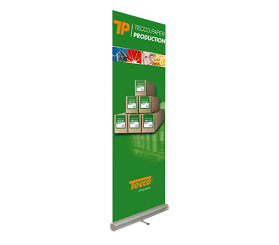 Tecco Production Roll-Up Display + 1 role 91,4 cm x 5 m